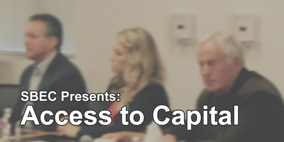 SBEC Presents: Access to Capital